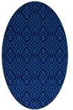 rug #203025 | oval blue retro rug