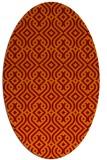 rug #203046 | oval traditional rug