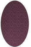 rug #203081 | oval purple traditional rug