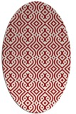 rug #203105 | oval red traditional rug