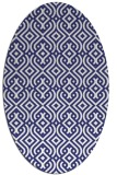 rug #203137 | oval white traditional rug