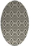 rug #203165 | oval black traditional rug