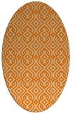 rug #203173   oval orange popular rug