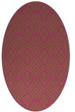 rug #203185 | oval pink popular rug