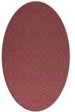 rug #203185 | oval light-green popular rug