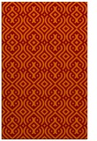 rug #203397 |  red-orange traditional rug