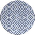 rug #203601 | round blue retro rug