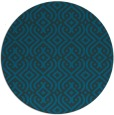 rug #203637 | round blue-green traditional rug