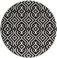 rug #203637 | round blue-green retro rug