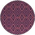 rug #203653 | round pink rug