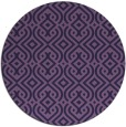 rug #203657 | round purple traditional rug