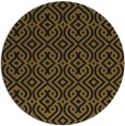 rug #203677 | round mid-brown retro rug