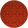 rug #203749 | round orange retro rug