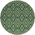 rug #203765 | round yellow retro rug
