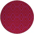 rug #203813 | round pink retro rug