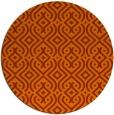 rug #203817 | round red-orange traditional rug