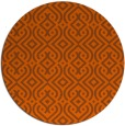 rug #203825 | round red-orange traditional rug