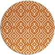 rug #203829 | round red-orange traditional rug