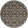 rug #203857 | round brown retro rug