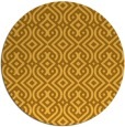 rug #203865 | round yellow traditional rug