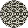 rug #203869 | round black traditional rug