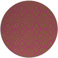 rug #203889 | round pink retro rug