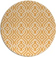 rug #203909 | round white traditional rug