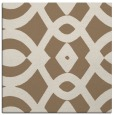 rug #204417 | square mid-brown graphic rug