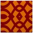 rug #204453 | square orange graphic rug