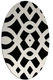 rug #204621 | oval black graphic rug