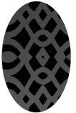 rug #204625 | oval black graphic rug