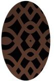 rug #204633 | oval black graphic rug