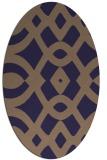 rug #204725 | oval beige graphic rug