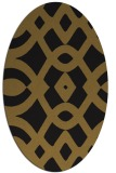 rug #204733 | oval black graphic rug