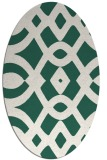 rug #204749 | oval blue-green rug