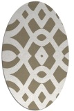 rug #204757 | oval white graphic rug