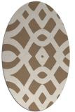 rug #204769 | oval beige graphic rug