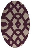 rug #204773   oval pink graphic rug