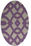 rug #204797   oval purple graphic rug