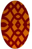 rug #204805 | oval orange graphic rug