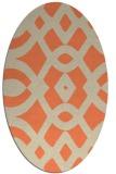 rug #204813 | oval orange graphic rug