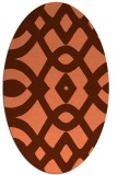 rug #204817 | oval red-orange popular rug