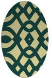 rug #204821   oval yellow graphic rug