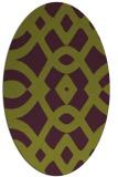 rug #204845   oval purple graphic rug