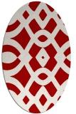 rug #204857 | oval red rug