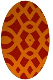 rug #204861 | oval red graphic rug