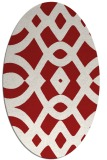rug #204865 | oval red graphic rug