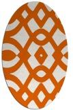 rug #204885 | oval red-orange rug