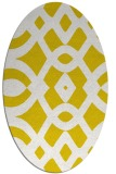rug #204917   oval white graphic rug