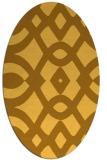 rug #204921 | oval light-orange graphic rug